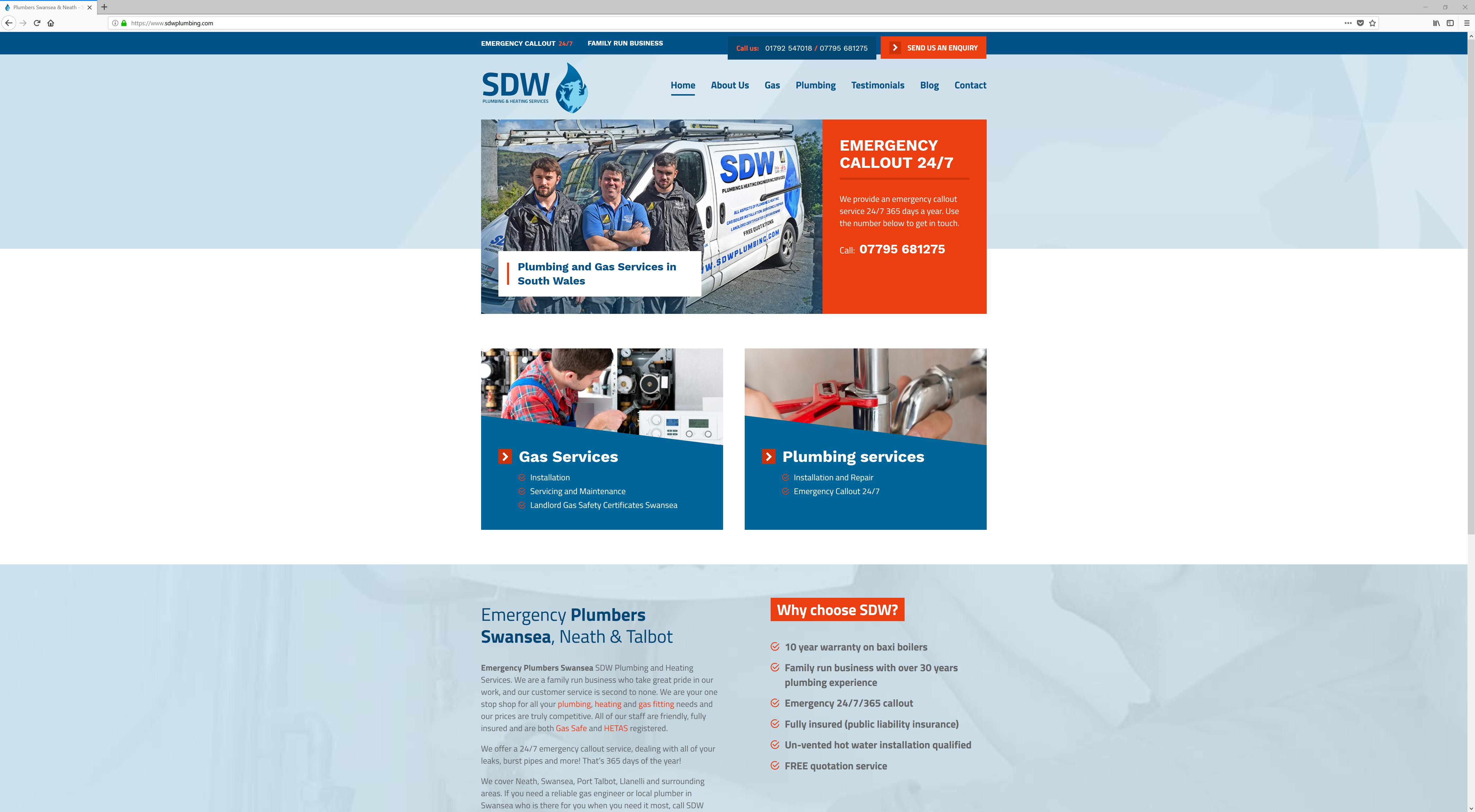 Plumbers Swansea & Neath - SDW Plumbing & Heating Services